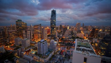 Bangkok view Mahanakhon is the new highest building in Bangkok. ,Thailand