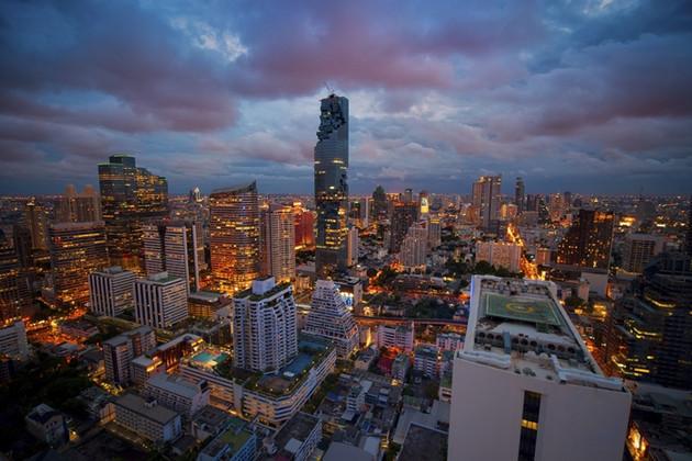 Bangkok view Mahanakhon is the new highest building in Bangkok. ,Thailand